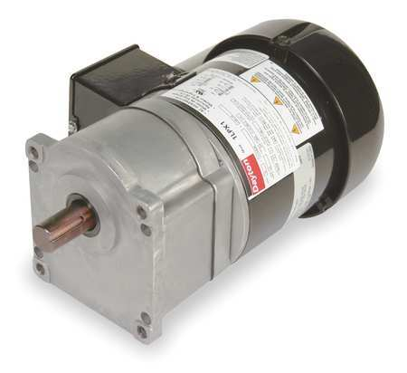 Dayton AC Gearmotor,  500.0 in-lb Max. Torque,  15 RPM Nameplate RPM,  115/230V AC Voltage,  1 Phase 1LPX4
