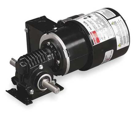 Dayton AC Gearmotor,  57.0 in-lb Max. Torque,  41 RPM Nameplate RPM,  115/230V AC Voltage,  1 Phase 1L538