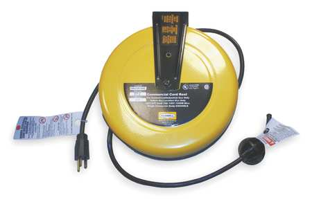 Hubbell Wiring Device-Kellems 25 ft. 16/3 Retractable Cord Reel 10 Amps 0 Outlets 120VAC Voltage HBLC25163
