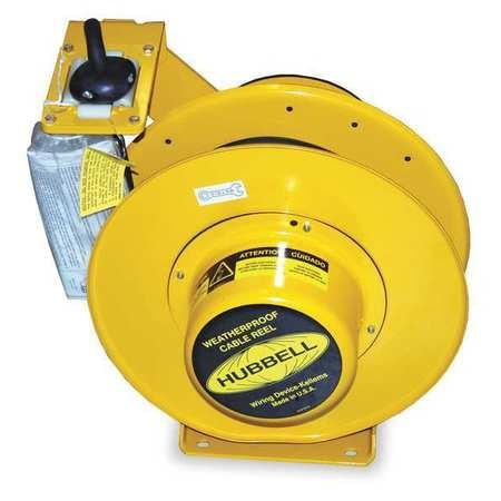 Hubbell Wiring Device-Kellems 50 ft. 14/3 Weatherproof Retractable Cord Reel 15.0 Amps 0 Outlets HBL501431W