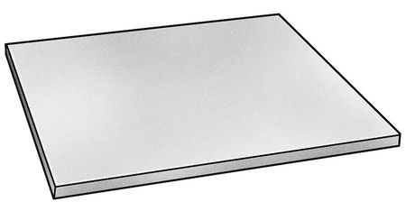 Zoro Select Blank, Stainless, 304, 1/2 x 12 x 12 In SB-0304-0500-12-12