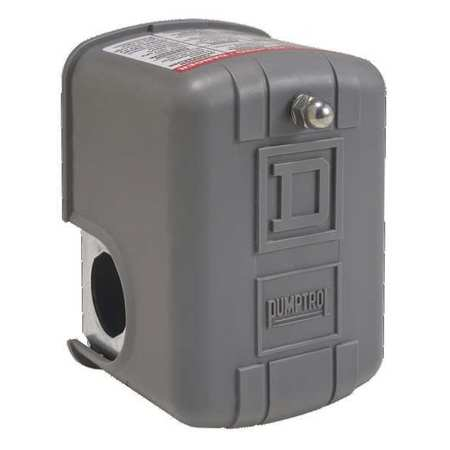 Square D Pressure Switch,  (1) Port,  1/4 in FNPS,  DPST,  5 to 80 psi,  Standard Action 9013FYG2J21P