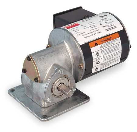 Dayton AC Gearmotor,  22.0 in-lb Max. Torque,  86 RPM Nameplate RPM,  115V AC Voltage,  1 Phase 1XFY3