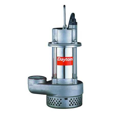 Sump Pump,  Stainless 1 HP,  11.3 Amps AC
