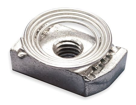 Nvent Caddy Channel Nut w/ Top Spring, 1/4-20 In TSNT0025EG