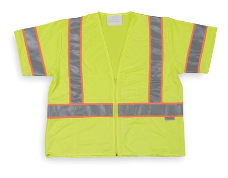 Medium Class 3 Cool Dry High Visibility Vest,  Lime