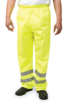Safety Over Pants, Lime, Size 40 to 44x33
