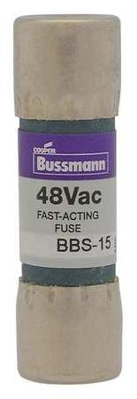 """Eaton Bussmann Fuse,  Fast Acting,  1/2A,  BBS Series,  600V AC,  Not Rated,  1-3/8"""" L x 13/32"""" dia BBS-1/2"""