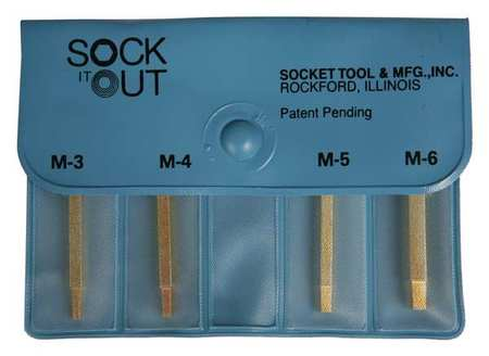 SOCK IT OUT Screw Extractor Set 4 Pc