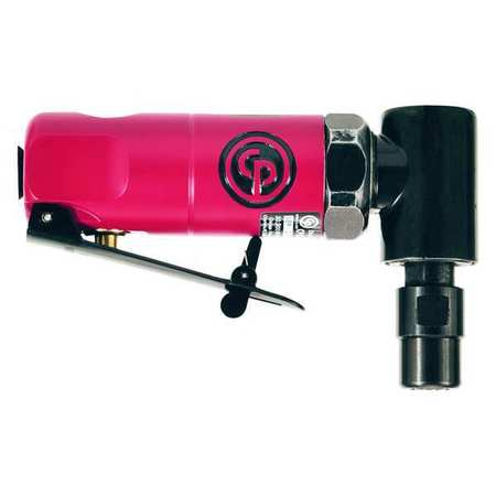 Chicago Pneumatic Right Angle Die Grinder,  1/4 in NPT Female Air Inlet,  1/4 in Collet,  Medium Duty,  22,500 RPM CP875