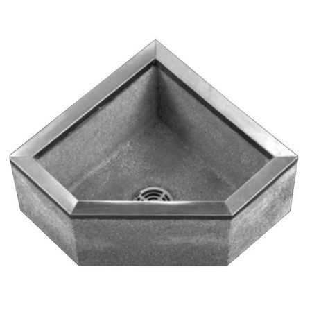 Fiat Mop Sink >> Fiat Products Corner Mop Sink Terrazzo With Stainless Steel Curb