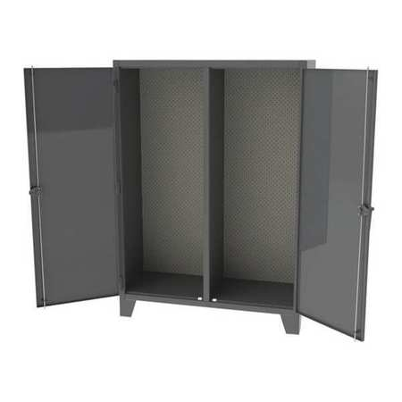 """Greene Manufacturing, Inc. 12 ga. Steel Cabinet, 72""""Wx24""""Dx84""""H, 2 Side Tool Panel,  72"""" W,  84"""" H,  Open Storage EX-846-3TP"""