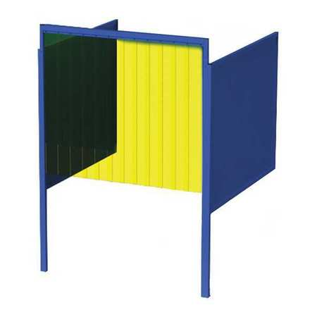 Greene Manufacturing, Inc. Welding Booth, 5ft.x5ft., Wall Mounted GB-725.02.S-CO