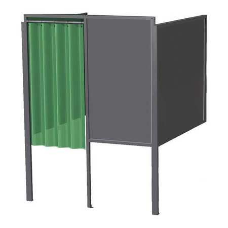 Greene Manufacturing, Inc. Welding Booth, 4ft.x5ft., Wall Mounted GB-724.03.S.STL