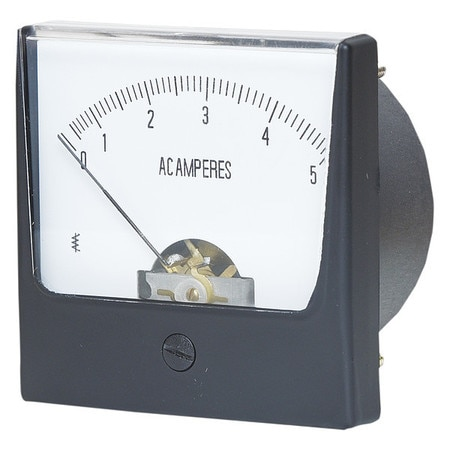 Zoro Select Analog Panel Meter, AC Current, 0-5 AC A 12G370