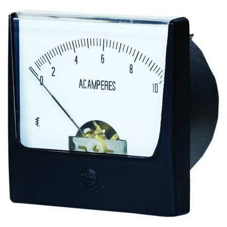 Zoro Select Analog Panel Meter, AC Current, 0-10 AC A 12G373