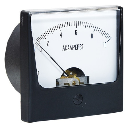 Zoro Select Analog Panel Meter, AC Current, 0-10 AC A 12G374