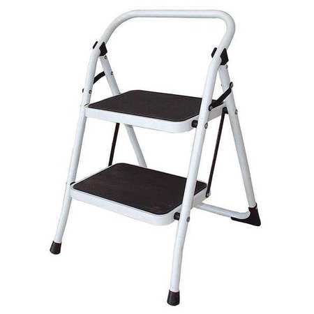 Miraculous 2 Steps Steel Step Stool 300 Lb Load Capacity White Inzonedesignstudio Interior Chair Design Inzonedesignstudiocom