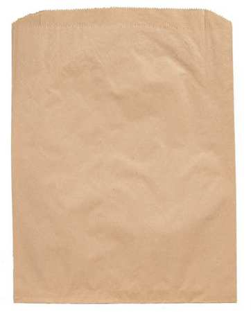 "Pk1000 ZORO SELECT 12R132 Merchandise Bag Pinched Bottom 12/""x15/"" Brown"