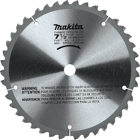 """Makita 7-1/2"""" 40T Carbide-Tipped Miter Saw Blade A-90912"""