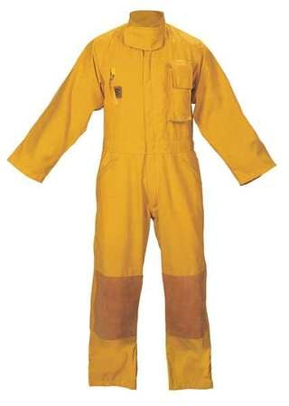 Fire-Dex Turnout Coverall, Yellow, S FS1C001S