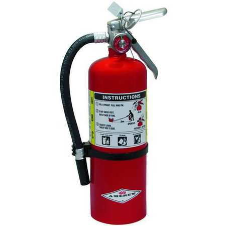 "Fire Extinguisher,  3A:40B:C,  Dry Chemical,  5 lb.,  4""dia."
