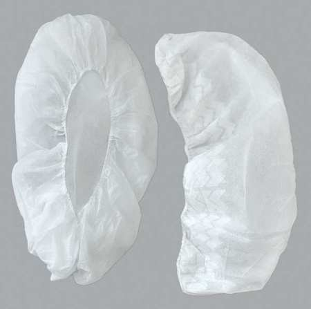 Action Chemical Shoe Covers, SlipResistSole, L, White, PK300 A-2105W-N/S-18