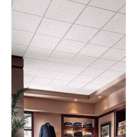 Armstrong 24 Lx24 W Acoustical Ceiling Tile Dune Mineral