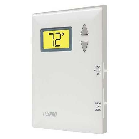 Lux Programmable Thermostat ,  1 H 1 C,  Wall Mount,  Battery ,  24VAC PSD011B