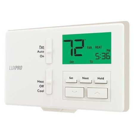 Lux Programmable/Non-Programmable Thermostat ,  2 H 1 C,  Wall Mount,  24VAC P721