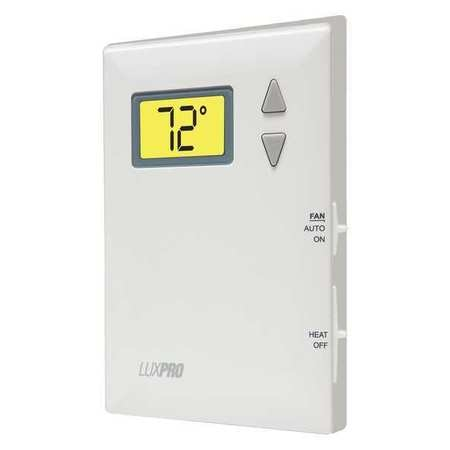 Lux Non-Programmable Thermostat ,  1 H Wall Mount,  Battery ,  24VAC PSD010BF