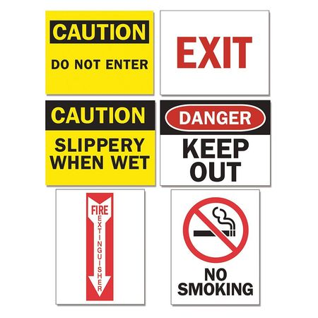 Tarifold Sign Inserts,  Assorted Signs,  PK12 P1949TA