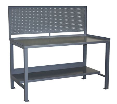 """Jamco Heavy Duty Fixed Work Bench,  Steel,  72"""" W,  34"""" Height,  3000 lb.,  Straight WR372GP"""