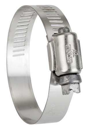 Zoro Select Hose Clamp, 2-1/2 to 4-1/2 In, SAE 64, PK10 6764170
