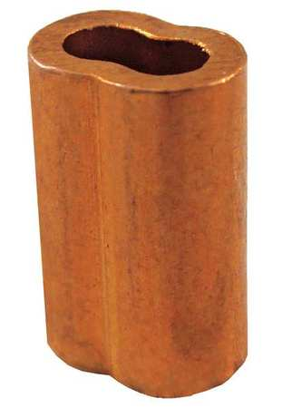 Loos Wire Rope Oval Sleeve, 5/16 In, 122 Copper SL2-10