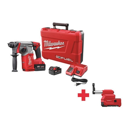 Milwaukee Cordless Rotary Hammer,  Dust Extraction,  Voltage: 18V 2712-22, 2712-DE
