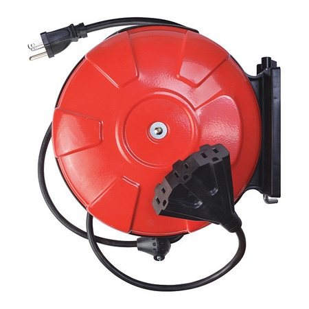 Southwire Company 30 ft. 14/3 Cord Reel Power Station 3 Outlets 48006SW