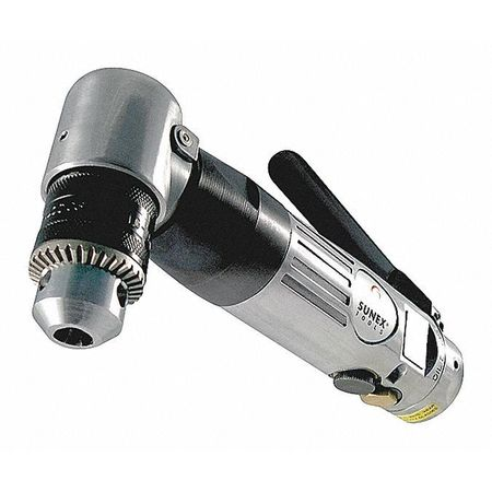 """Sunex Tools Air Drill, Right Angle, Reversible, 3/8"""" SX545B"""