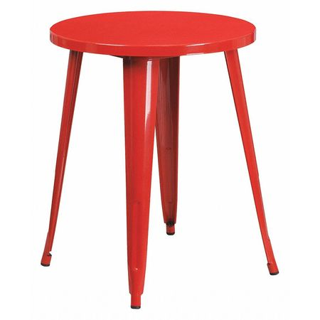"""Flash Furniture Round 24"""" X 24"""" X 29"""",  Metal Top,  Red CH-51080-29-RED-GG"""
