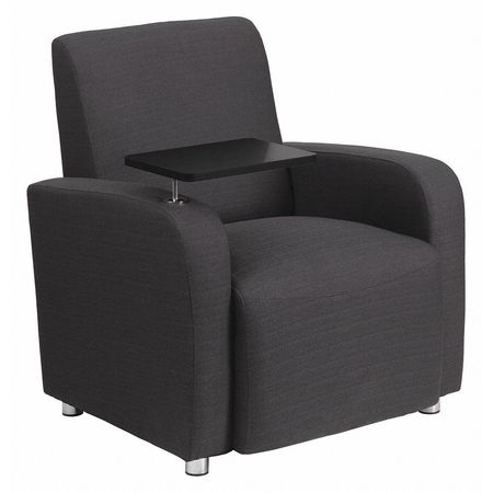 """Flash Furniture Guest Chair,  27"""" L 35"""" H,  Raised Tablet,  Fabric Seat,  Contemporary Series BT-8217-GY-GG"""