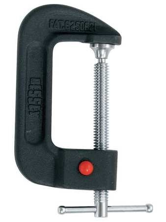 "Quick Release C-Clamp, 4-3/8"", Iron, 1200lb"