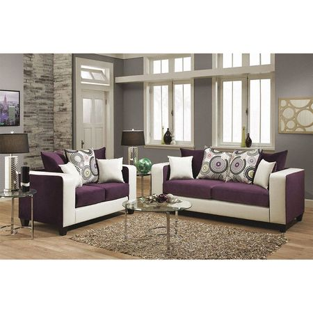 Living Room Set 34 X Upholstery Color Purple