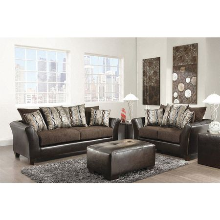 Riverstone Rip Sable Chenille Living Room Set 36 X