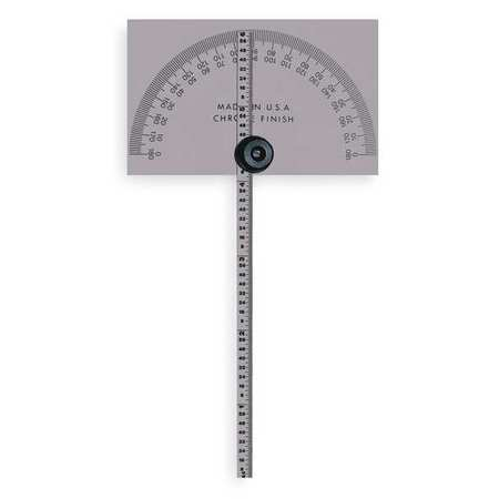 Protractor, Rectangular, 6 In, 1/64 Grad