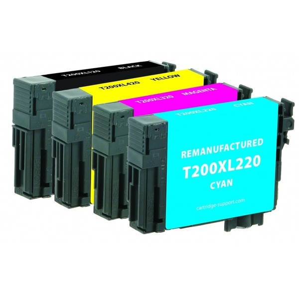 Clover Imaging Group Remanufactured Black High Capacity,  Cyan/Magenta/Yellow Ink Cartridges 118200