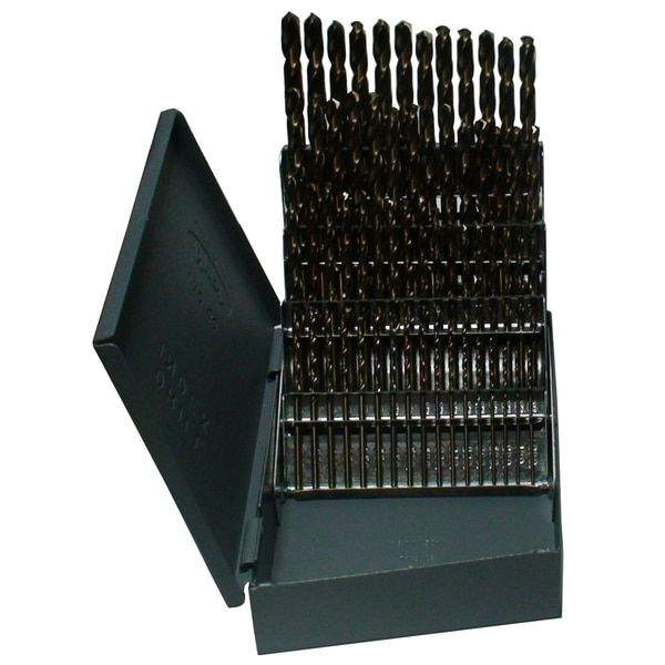 Drill America #1-#60 60Pc. Cobalt Jobber Length Drill Bit Set DWD60J-CO-SET