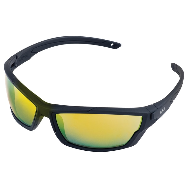 Erb Safety Outride Safety Glasses,  Black Frame And Orange Mirror Lens 18033