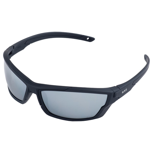 Erb Safety Outride Safety Glasses,  Black Frame And Silver Mirror Lens 18034
