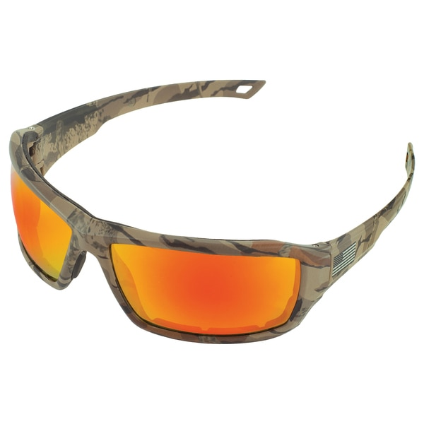 Erb Safety Live Free Safety Glasses,  Camo Frame And Sharpshooter Lens 18049