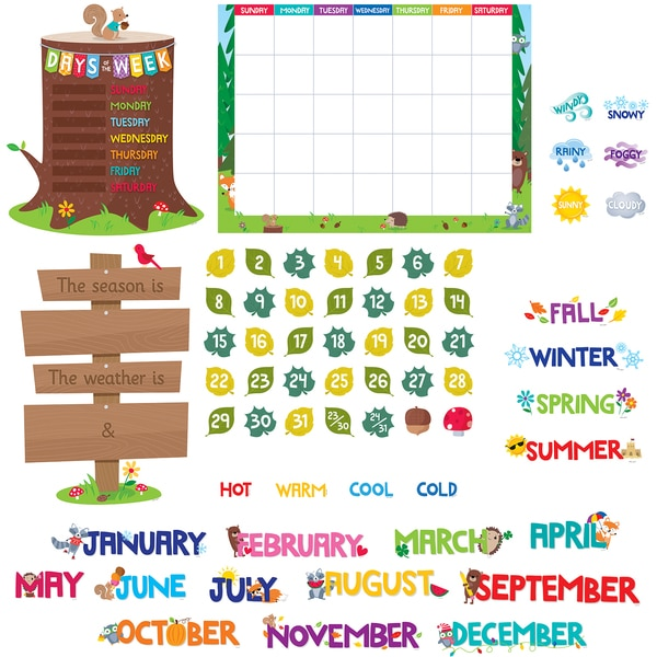 Creative Teaching Press Woodland Friends Calendar Bulletin Board Set,  PK2 8006